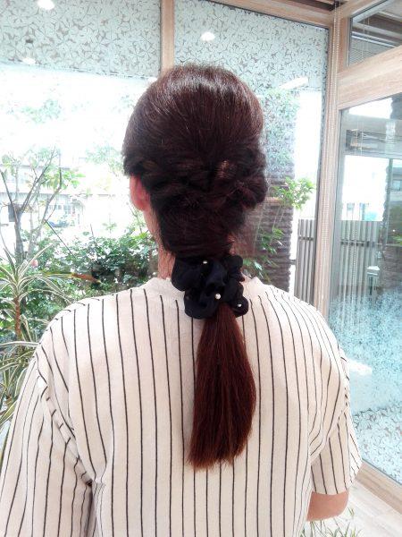 ロング まとめ髪