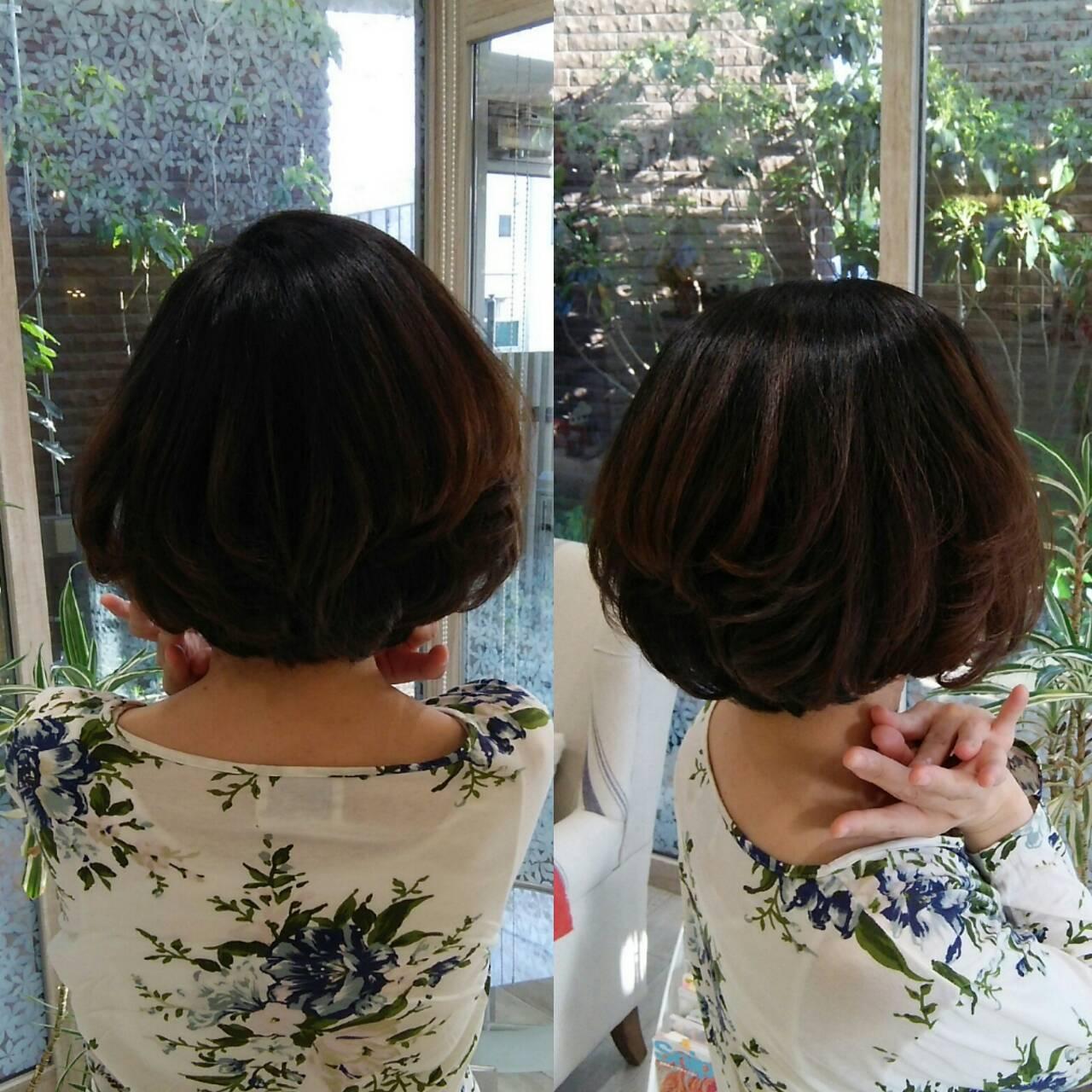 秋髪へチェンジ